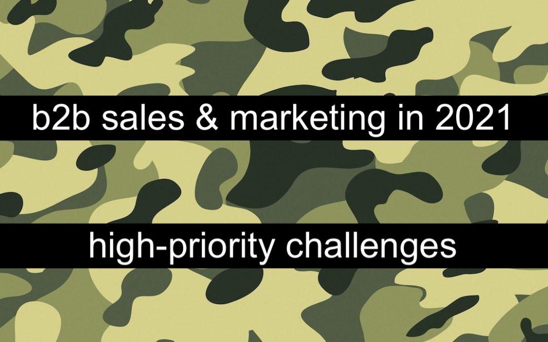 B2B Sales & Marketing in 2021