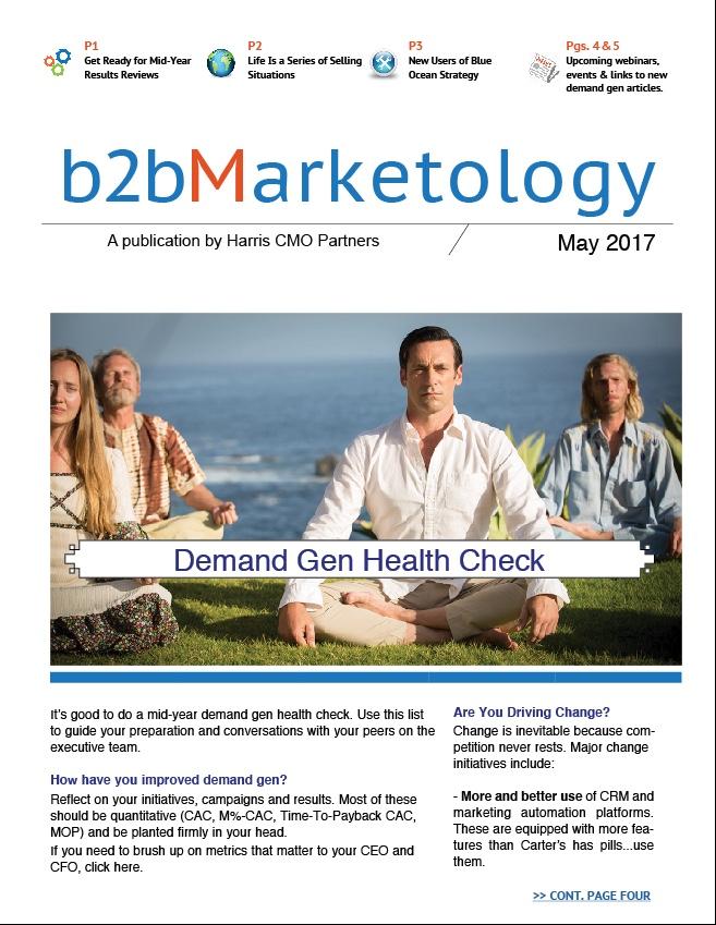 Demand Gen Articles, B2B Marketology, May 2017